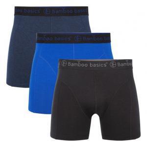 Bamboo Basics Boxershorts Rico (3-pack) Zwart, Blauw & Navy(1)