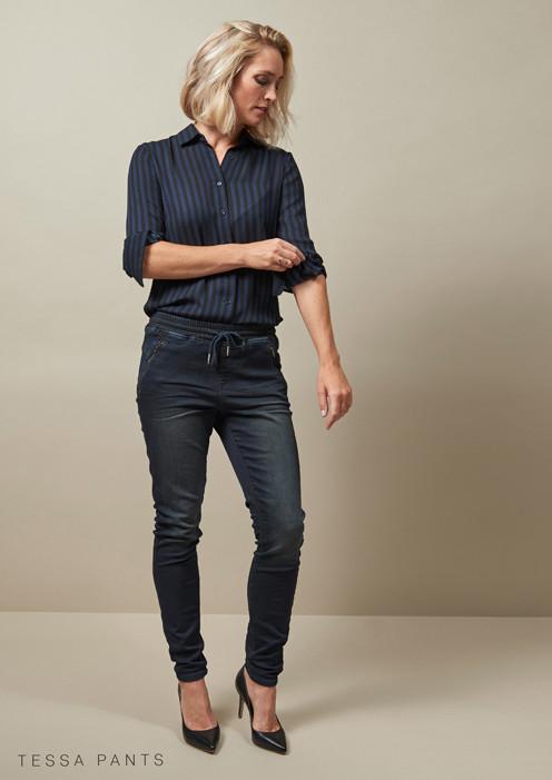 Red Button Jeans Tessa trackpant darkblue overdye