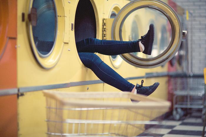 Jeans in wasdroger